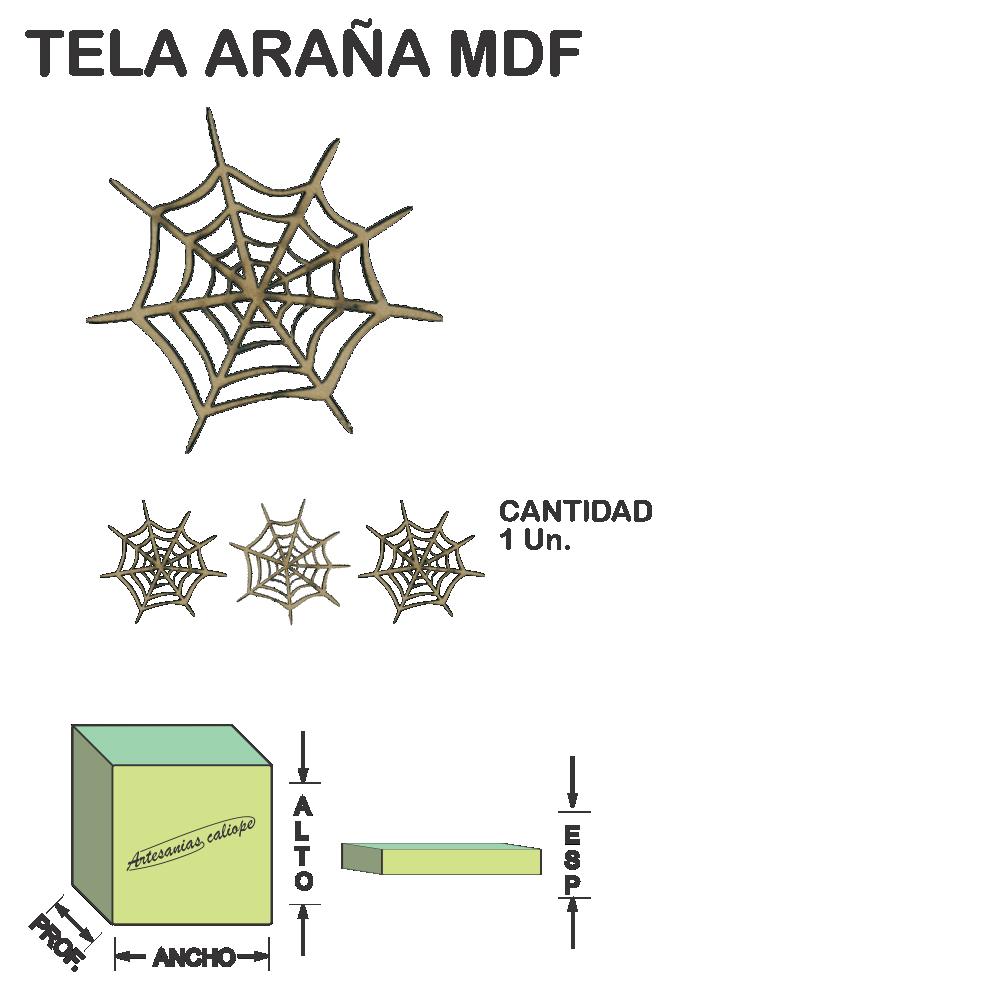 Figura Tela Ara?a Fibrofacil Mdf Laser - 1 un