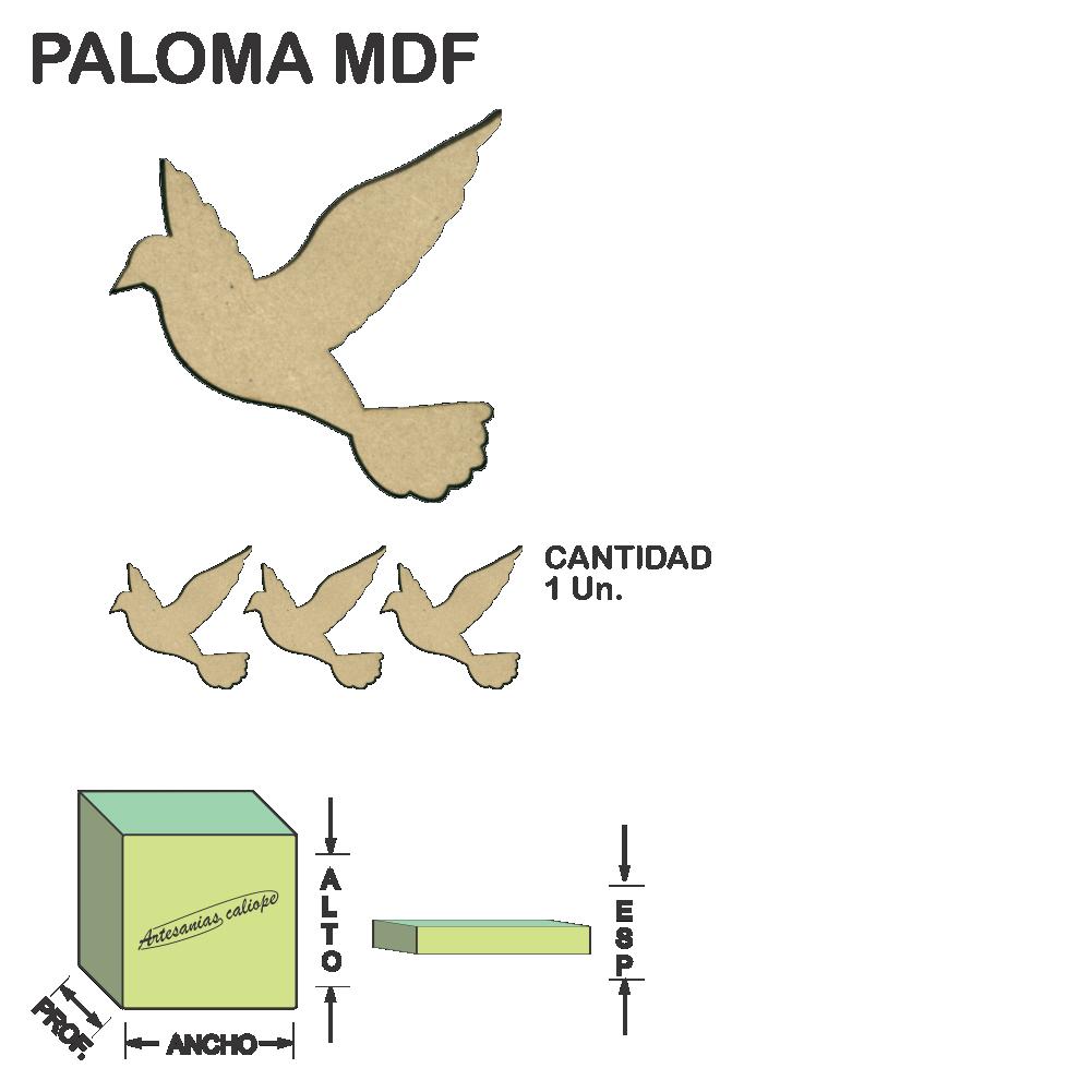 Figura Paloma Fibrofacil Mdf Laser - 1 un